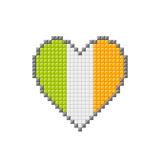 Pixel Block Irish Love Heart