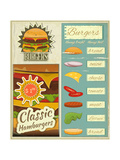 Burgers Menu Set Retro