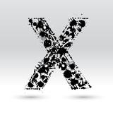 Letter X Formed By Inkblots