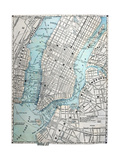 Old Street Map Of New York City