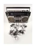 Tape Spewing Boombox Reproduction d'art par Dubassy