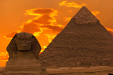 The Sphinx And Great Pyramid  Egypt