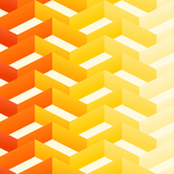 Retro Zigzag Pattern Reproduction d'art par Vitavalka