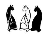 Sitting Cats