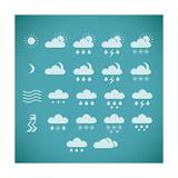 Pixel Weather Icons