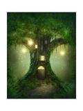 Fantasy Tree House Reproduction d'art par Egal