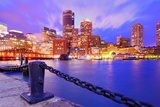Financial District Of Boston  Massachusetts Viewed From Boston Harbor