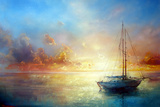 Seascape Pier Reproduction d'art par Yakimenko