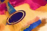 Guitare Reproduction d'art par Suriko
