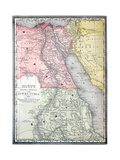 Old Map Of Egypt Reproduction d'art par Tektite