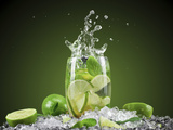 Mojito Cocktail With Splash And Ice