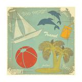 Retro Travel Postcard
