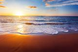 Sunset And Beach