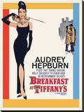 Audrey Hepburn -Breakfast at Tiffanys One Sheet Tableau sur toile