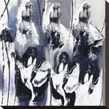 Silhouettes X Tableau sur toile par C Diora