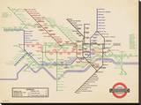 London Underground-Vintage 1936 Map