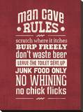 Rules Mancave Tableau sur toile par Pamela Fogul