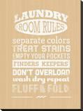 Laundry Room Rules II Tableau sur toile par Pamela Fogul