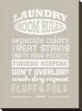 Laundry Room Rules I Tableau sur toile par Pamela Fogul