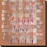 Vivre, rire, aimer Tableau sur toile par Janis Boehm