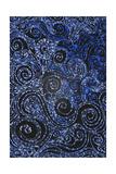 Swirly Blue Mosaic Ornament