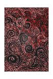 Red Twirly Mosaic Pattern