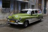 1950's Era Antique Car and Street Scene from Old Havana  Havana  Cuba