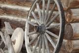 Old Wagon Wheel  Fort Steele  British Columbia  Canada