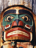 Totem Pole Detail  Duncan  Vancouver Island  BC  Canada
