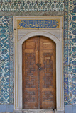 Beautiful Tile Work Inside the Harem Topkapi Palace  Istanbul  Turkey