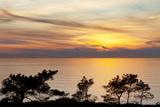 Sunset on Ocean  La Jolla  California  USA