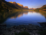 Early Morning at St Mary Lake in Glacier National Park  Montana  USA