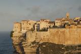 Cliffside Houses at Dawn  Bonifacio  Corsica  France