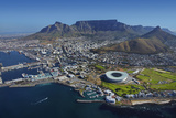 Aerial of Stadium Waterfront  Table Mountain  Cape Town  South Africa