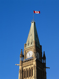 Detail of the Peace Tower  Ottawa  Ontario  Canada