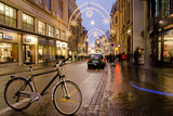 Holiday Lights on Freie Strasse  Basel  Switzerland