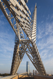 Skydance Footbridge over Highway I-40  Oklahoma City  Oklahoma  USA