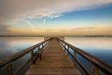 Sunrise on the Pier at Terre Ceia Bay  Florida  USA