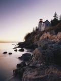 Bass Harbor Head Lighthouse at Dusk  Mount Desert Island  Maine  USA