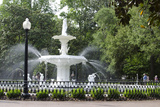 White Fountain in Forsyth Park  Savannah  Georgia  USA