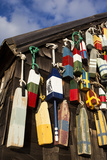 Lobster Buoys, Gloucester, Massachusetts, USA Papier Photo par Walter Bibikow