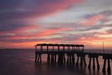 Fishing Pier at Sunset  Jekyll Island  Georgia  USA