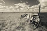 Old Wagon  Prairie Homestead  Cactus Flat  South Dakota  USA