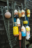 Lobster Buoys, Rockport, Massachusetts, USA Papier Photo par Walter Bibikow