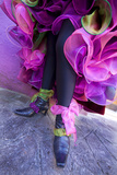 Woman's Legs and Shoes Dressed for Carnival  Venice  Italy