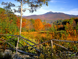 Autumn Landscape of Mount Chocorua  New England  New Hampshire  USA