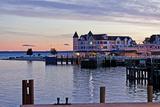 The Town on Mackinac Island  Michigan  USA