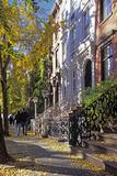 Couple on Leroy Street in Greenwich Village  Manhattan  New York  USA