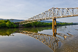 Sailing under a Bridge over the Tennessee River  Tennessee  USA