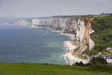 Town and Cliffs  Elevated View  Yport  Normandy  France